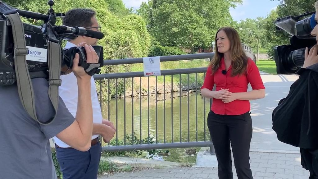Janine Wissler im Gespräch mit Politik-Reporter Benjamin Holler