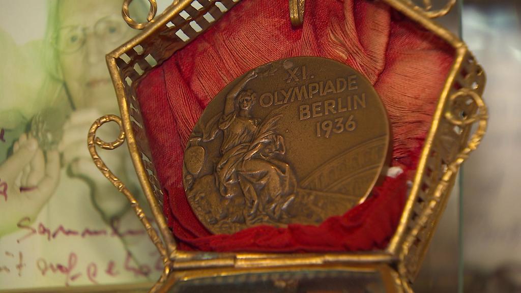 Die Bronzemedaille gewann Leichtathletin Elfriede Kaun bei den Olympischen Spielen in Berlin im Hochspringen.