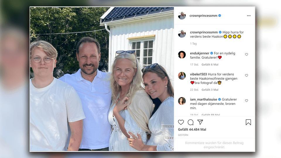 Ein Familien-Portrait der Norwegen-Royals bei Instagram