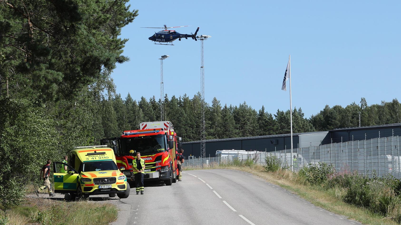 Geiselnahme in schwedischem Gefängnis - Polizei im Einsatz