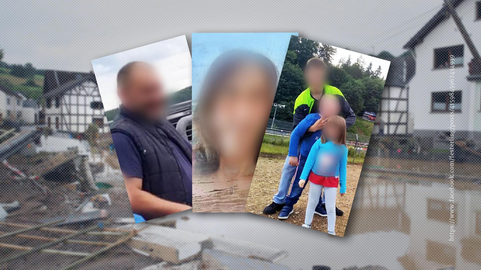 Vater Mike und Mutter Svenja sollen mit ihren Kindern Yannik , Antonio und Isabel von den Fluten mitgerissen worden sein.