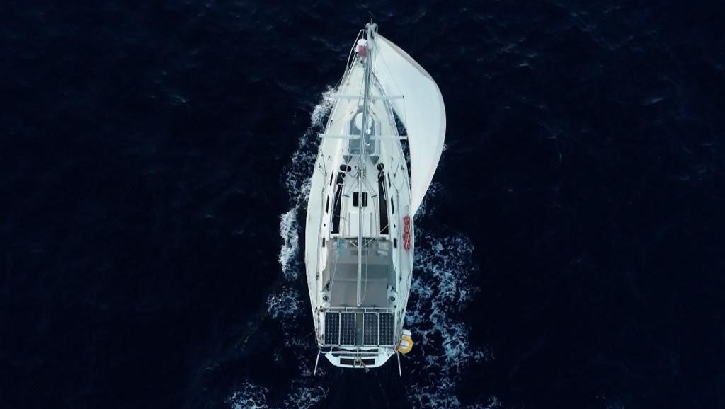 Mit diesem Boot überquerte Jonna Kilian-Vostell den Atlantik