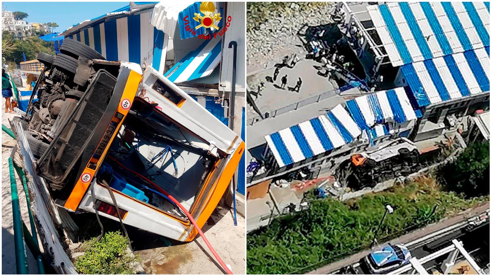 Kleinbus verunglückt auf Urlaubsinsel Capri - mindestens ein Toter