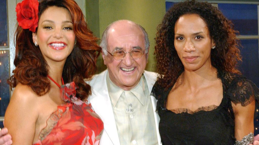 """Verona Feldbusch (heute Pooth) und Barbara Becker 2003 zu Gast bei """"Boulevard Bio""""."""