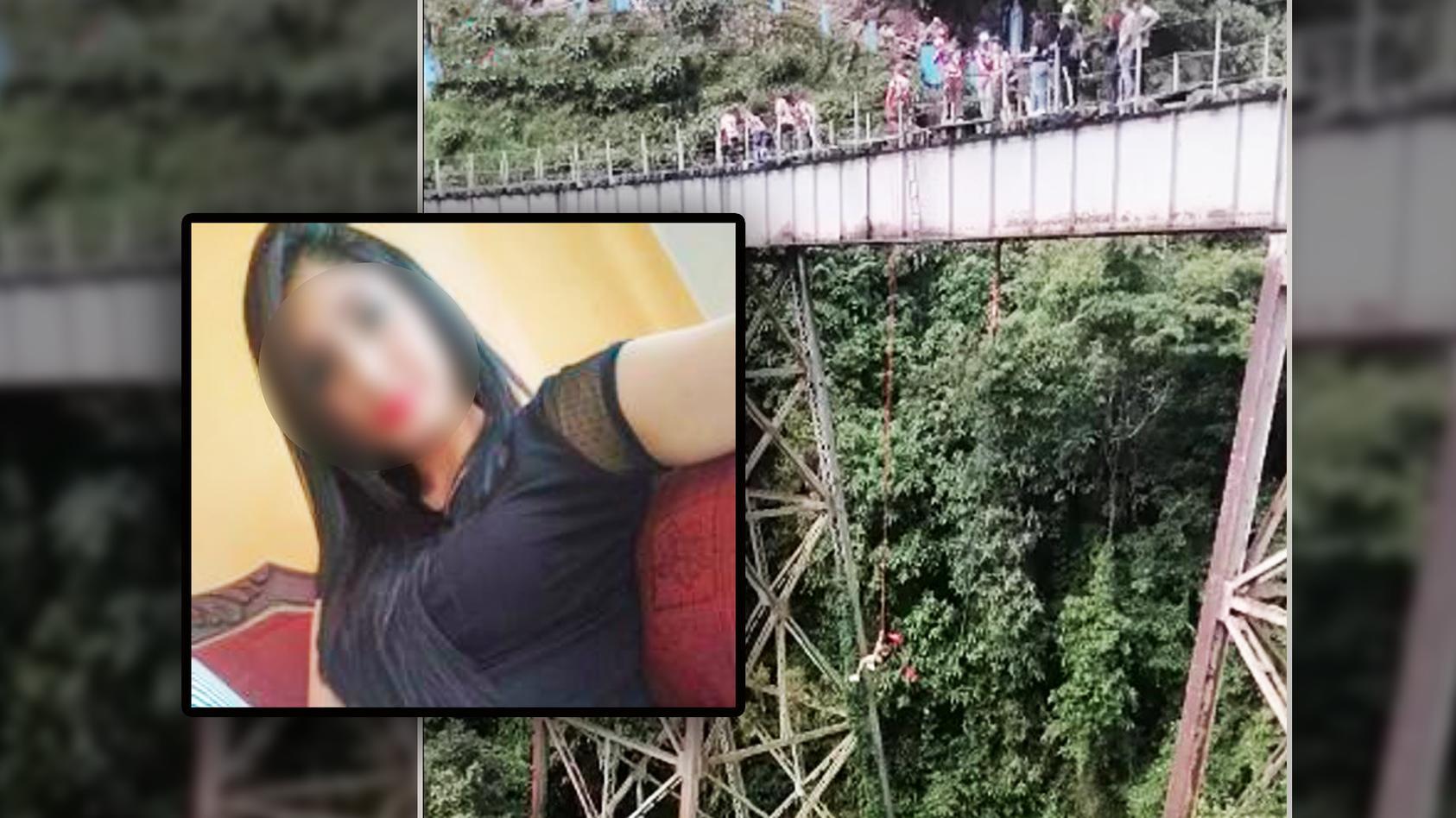 Yecenia Morales Gómez (25) starb bei einem Bungee-Sprung, weil sie noch nicht am Sicherheitsseil befestigt war.