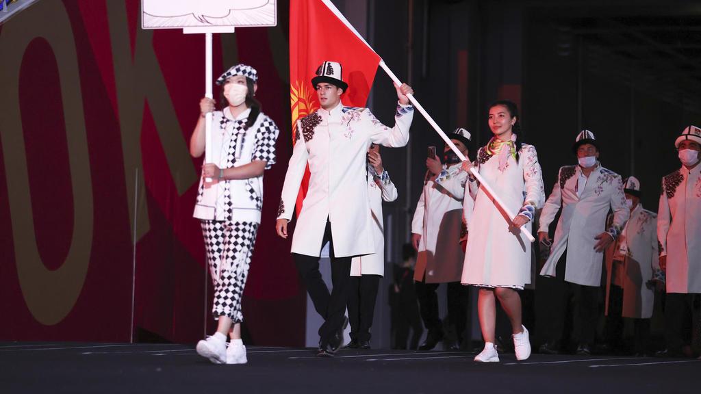 Manche Athleten trugen in Tokio bei der Eröffnungsfeier keine Maske.