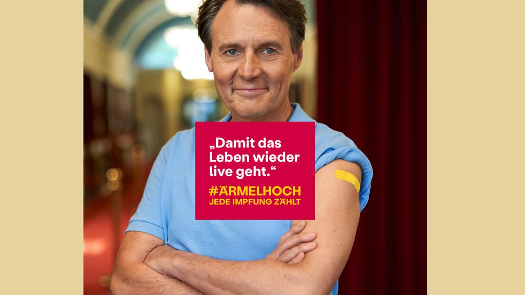 GZSZ-Star Wolfgang Bahro macht sich für die Impf-Kampagne stark.