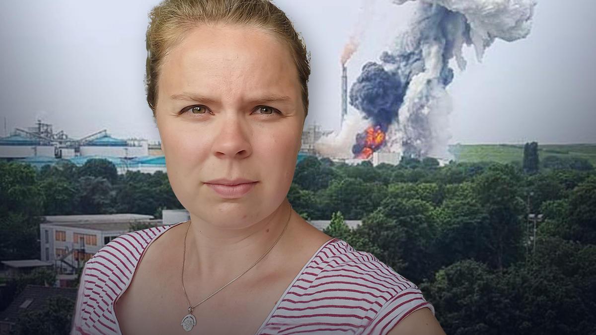 RTL-Redakteurin Johanna Grewer wohnt in der Nähe des Chemparks in Leverkusen, in dem sich am Dienstagvormittag eine Explosion ereignete. (Fotomontage)