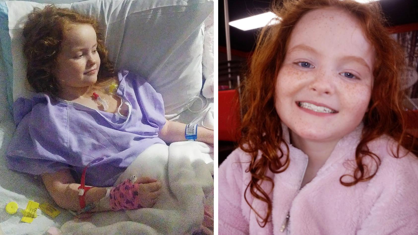 Emma litt unter einen seltenen Form des Nierenkrebs.