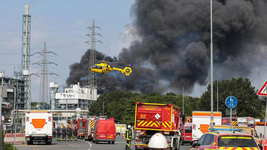 Explosion in Chemiepark Leverkusen
