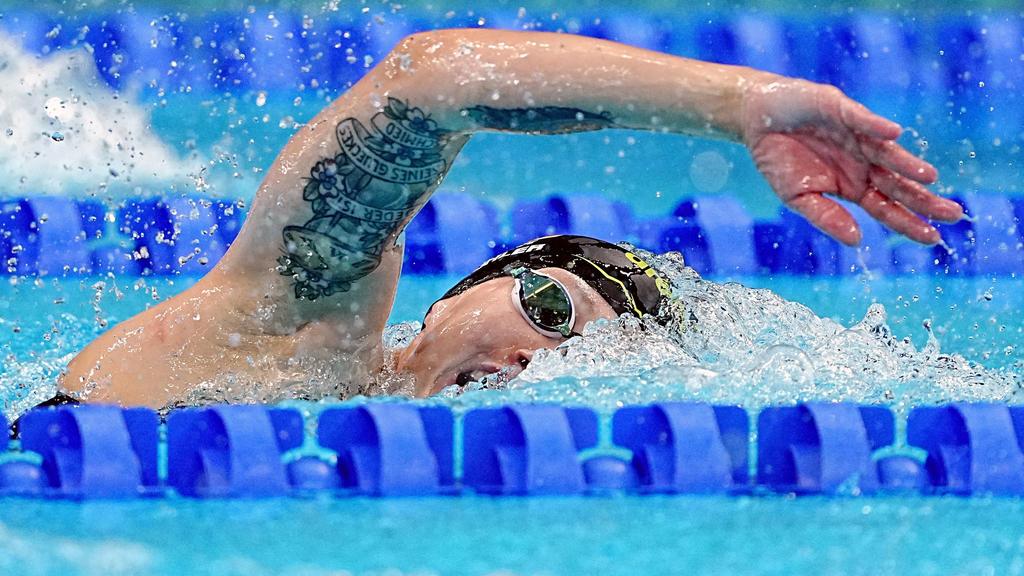 28.07.2021, Japan, Tokio: Schwimmen: Olympia, 1500 m Freistil, Frauen, Finale im Tokyo Aquatics Centre. Sarah Köhler aus Deutschland in Aktion. Foto: Michael Kappeler/dpa +++ dpa-Bildfunk +++