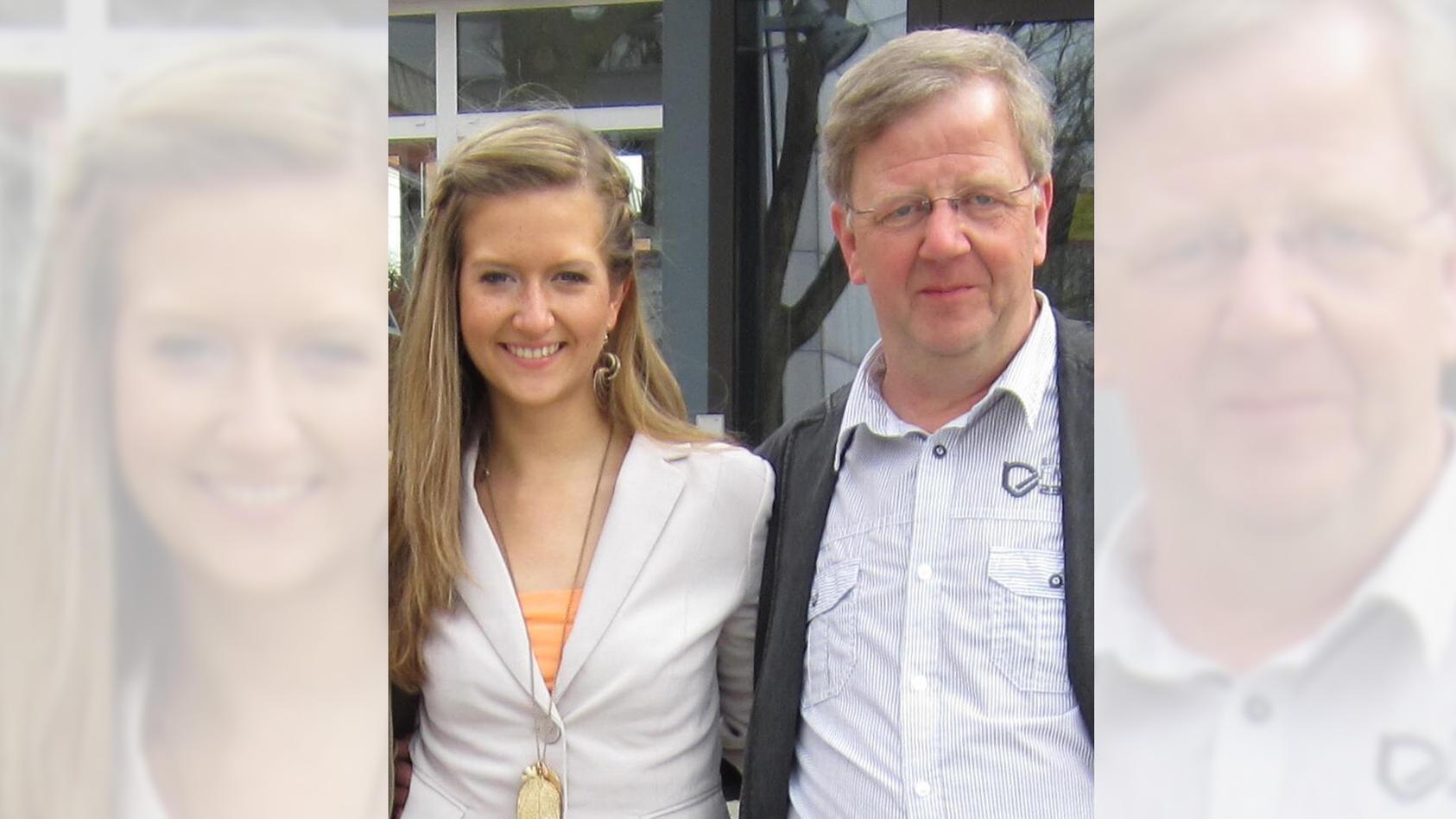 Ein starkes Team: Karina und ihr geliebter Papa Bernhard.