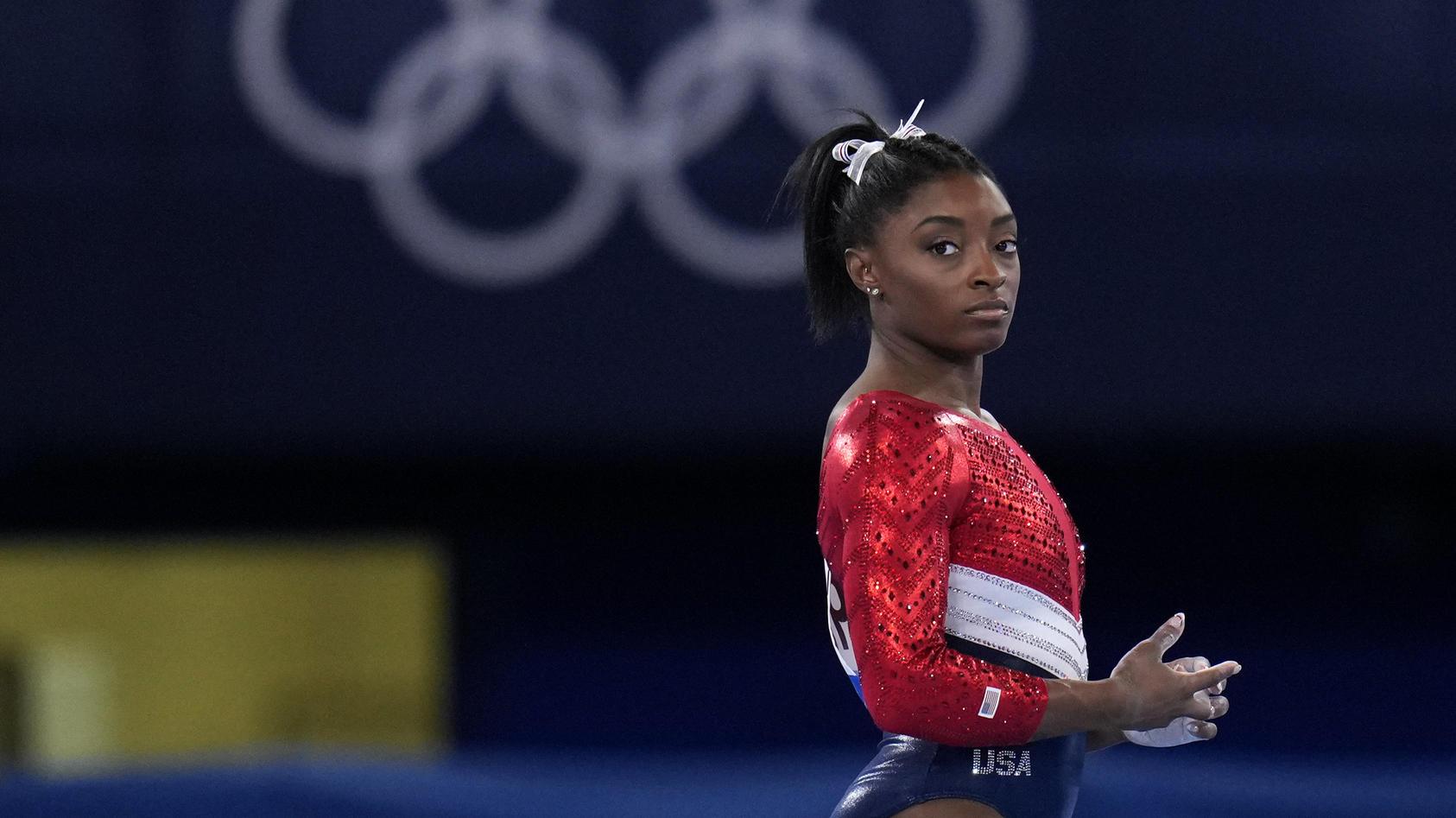 Turn-Superstar Biles kehrt auf die olympische Bühne zurück.