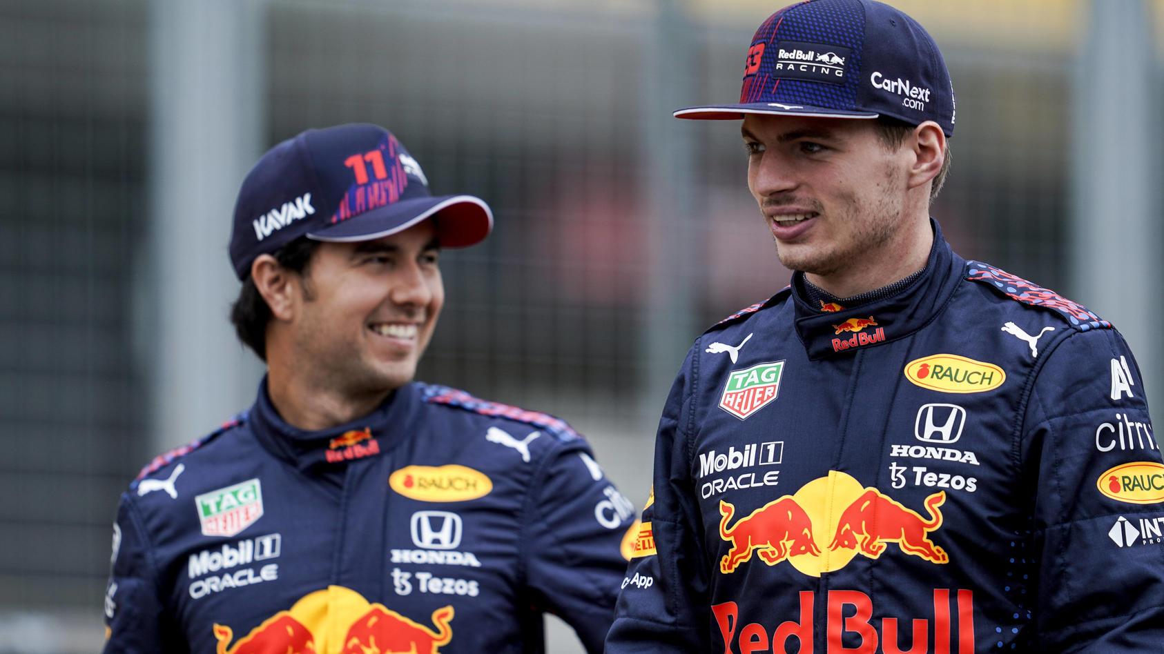 Der Bulle und der Ober-Bulle: Sergio Perez und Max Verstappen.