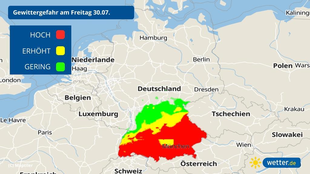 Die Gefahr von Unwettern ist an und in den Alpen hoch.