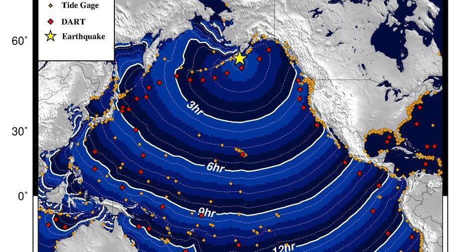 Die Tsunami-Warnung galt für die Küste Alaskas - bis zur Entwarnung wenige Stunden später