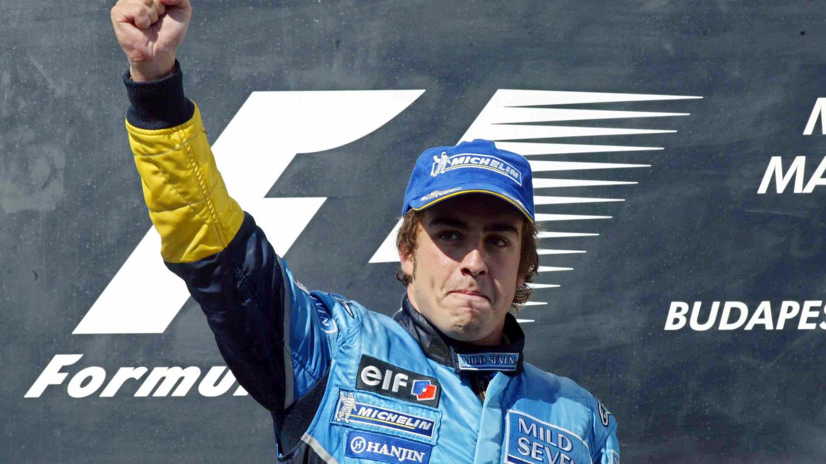 In Budapest feierte Fernando Alonso 2003 seinen ersten GP-Sieg - mit 22 Jahren war er damals der jüngste F1-Sieger der Geschichte.