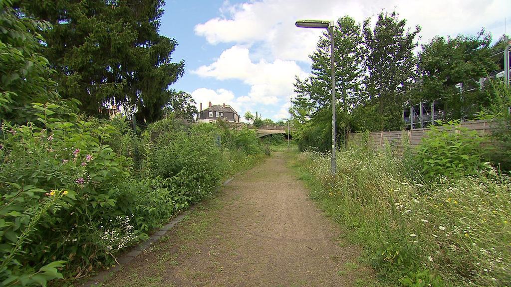 Frankfurt-Gallus: Der bisherige Weg sei zu schmal für entgegenkommende Radfahrer.