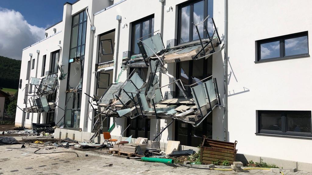 Immense Zerstörung in Blumberg
