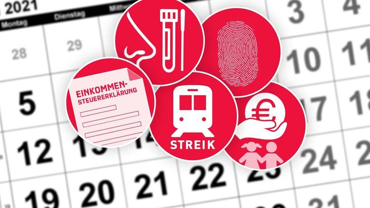 Testpflicht, Bahnstreiks & Co. - Die wichtigsten Änderungen ab morgen
