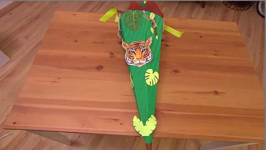 DIY: Dschungel-Schultüte