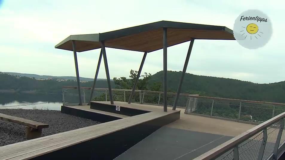Die neue Aussichtsplattform im Wildtierpark Edersee