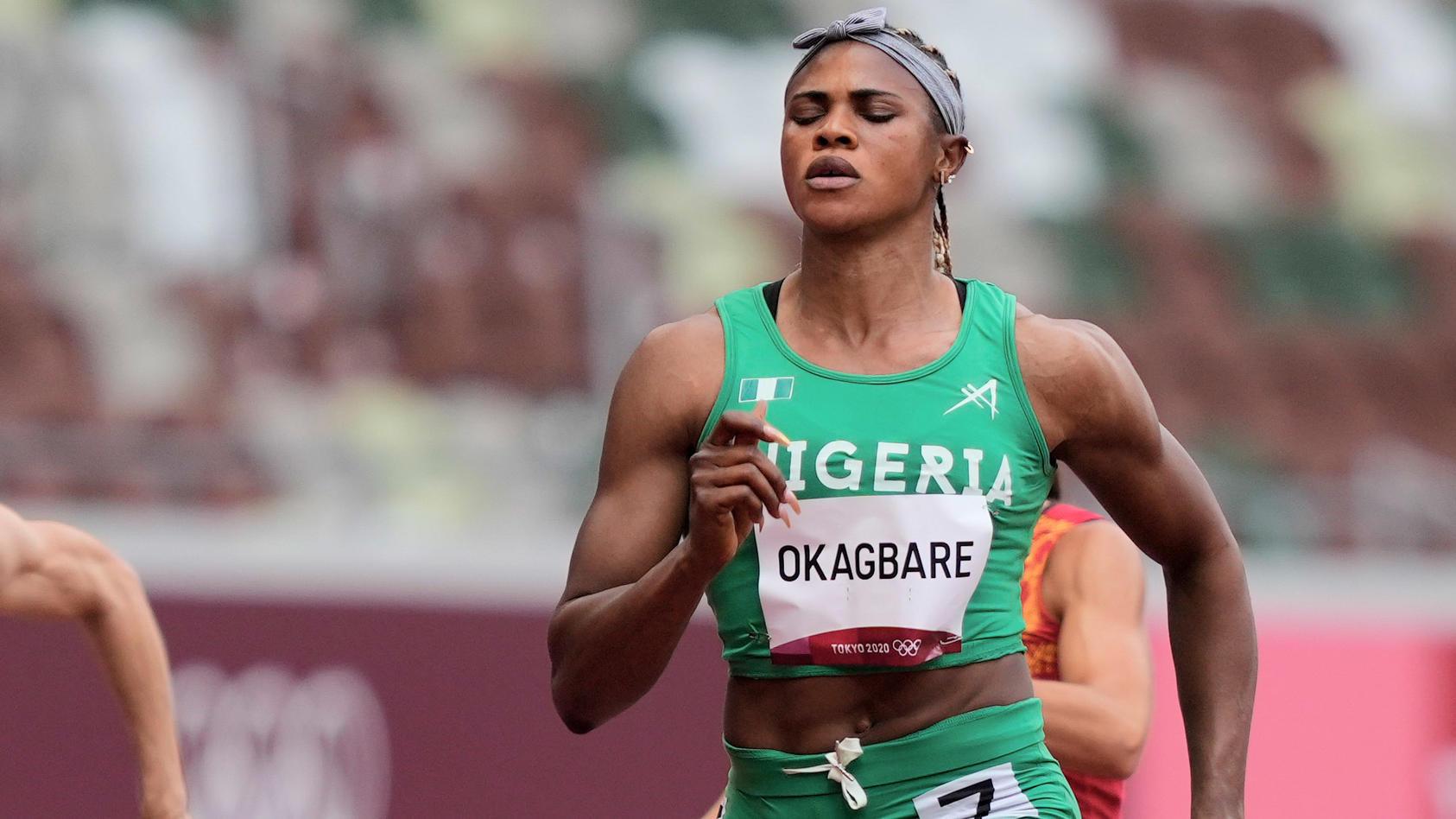 Nigerias Topsprinterin Blessing Okagbare wird aus dem Verkehr gezogen,