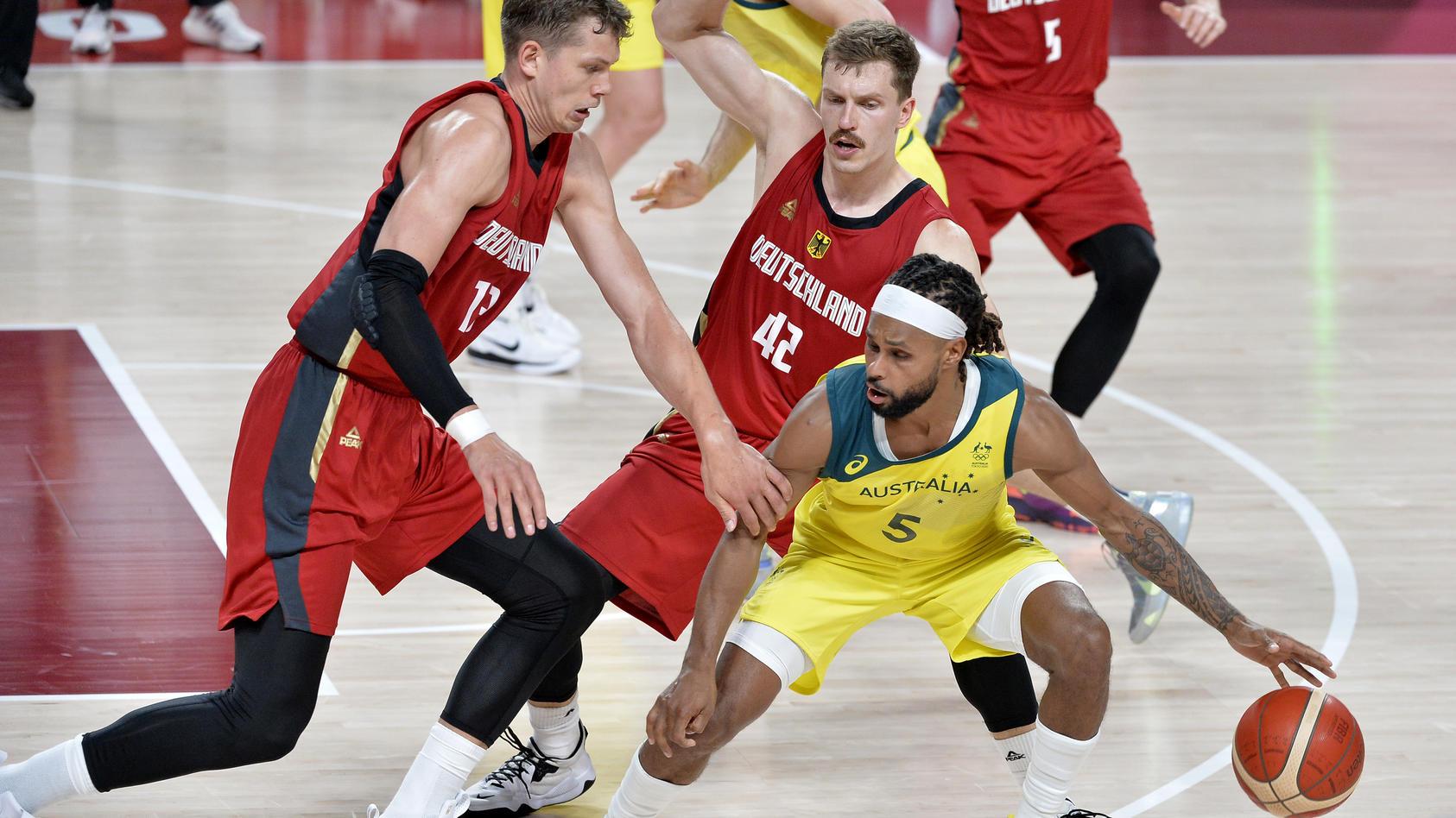 Deutschlands Basketballer stehen trotz der Niederlage gegen Australien im Olympia-Viertelfinale