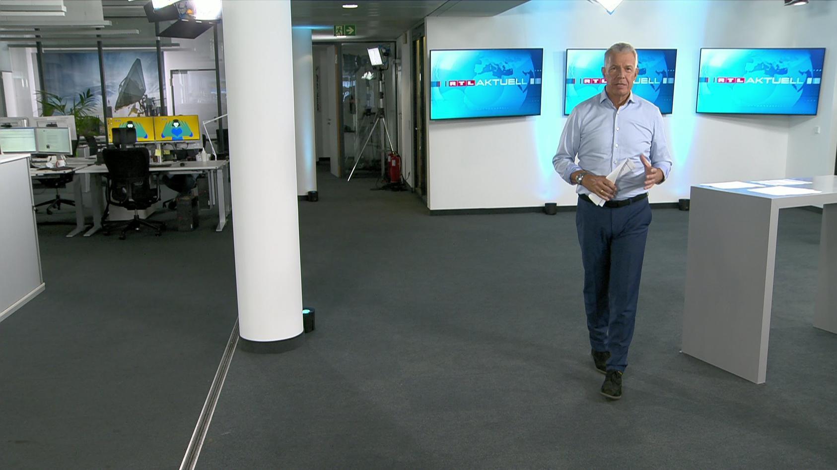 Peter Kloeppel im neuen RTL Aktuell um 16:45 Uhr