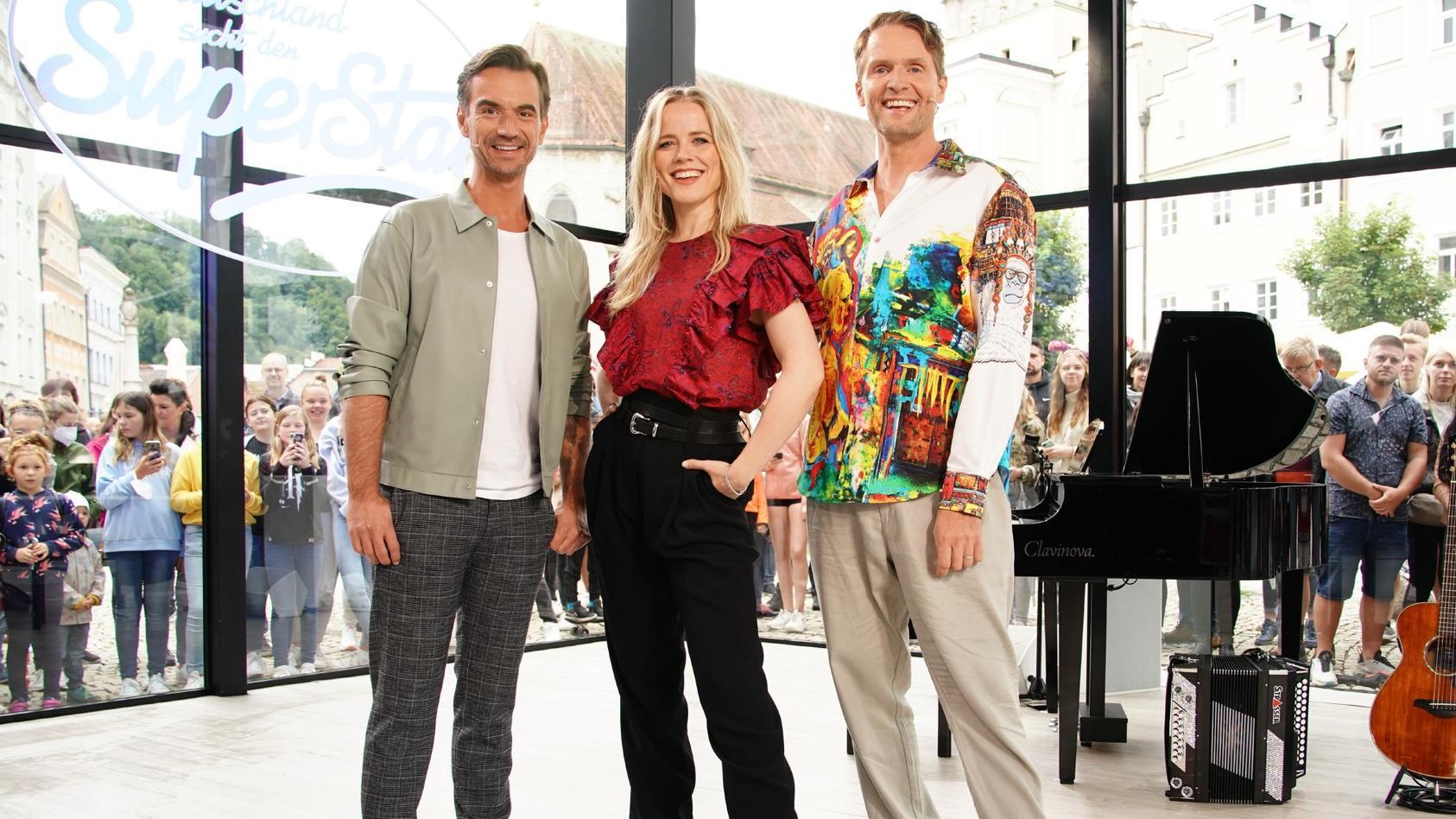 Florian Silbereisen. Ilse DeLange und Toby Gad beim DSDS-Jury-Casting in Burghausen
