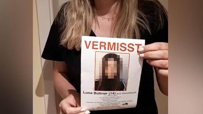 Luna B. galt seit Freitag als vermisst.