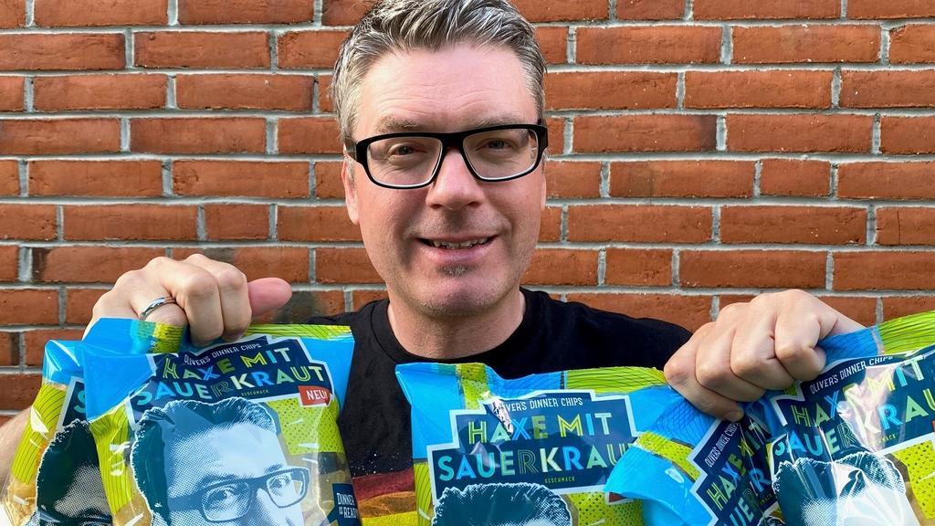 Oliver Numrich entwickelt Haxe mit Sauerkraut-Chips