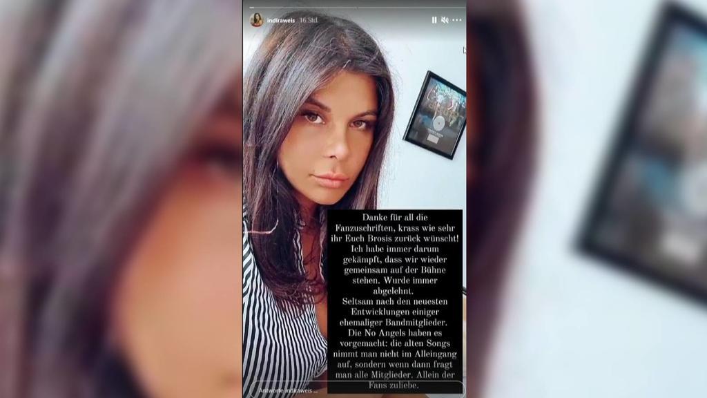 """Indira Weis äußert sich in ihrer Instagram-Story zur  """"Bro'Sis""""-Mini-Reunion von Kollegen Ross Anthony und Giovanni Zarrella."""