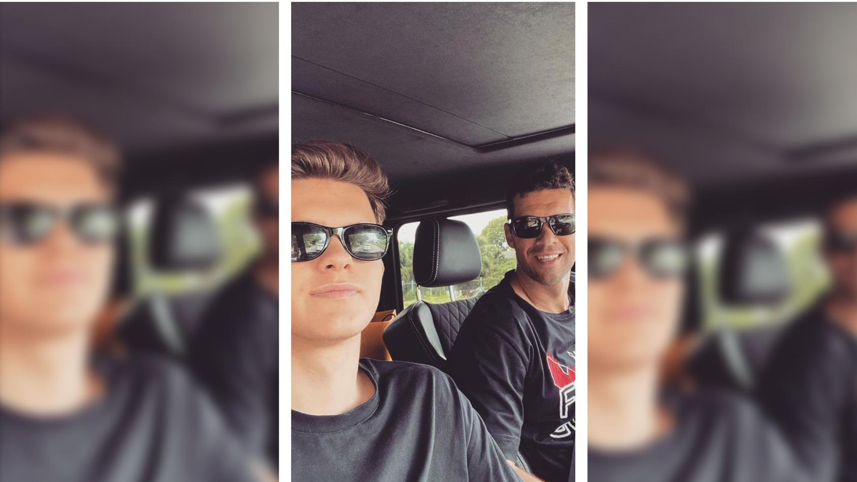 Ein Bild aus glücklichen Tagen: Emilio und Michael Ballack