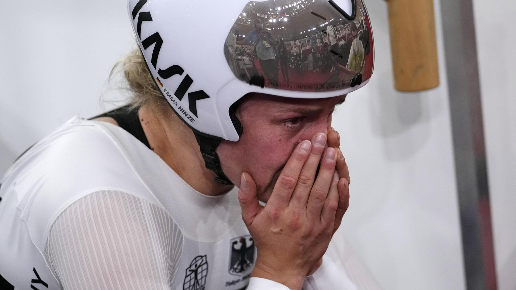 Mehr als Platz vier war für Emma Hinze am Olympia-Schlusstag nicht drin