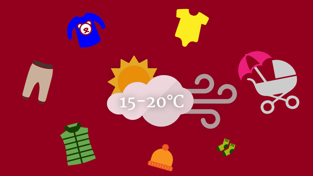 Kinder und Babyklamotten Icons