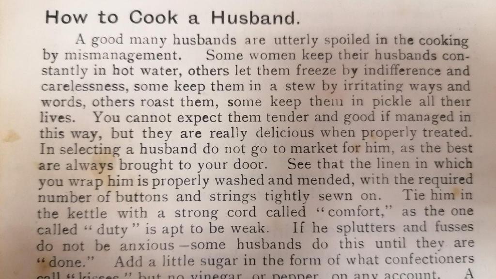 Kochbuch aus 1911 gefunden