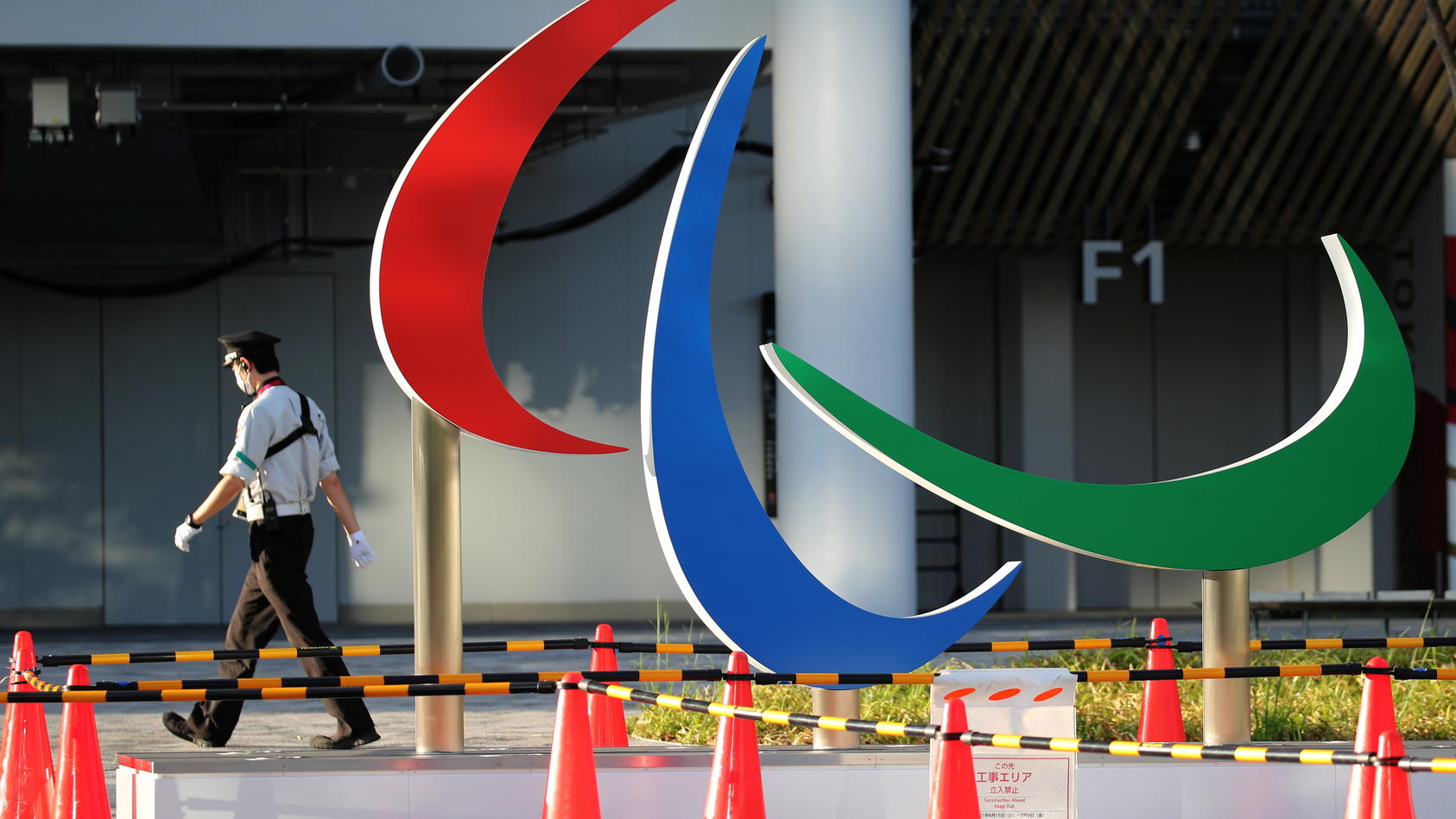 Das Symbol der Paralympics.