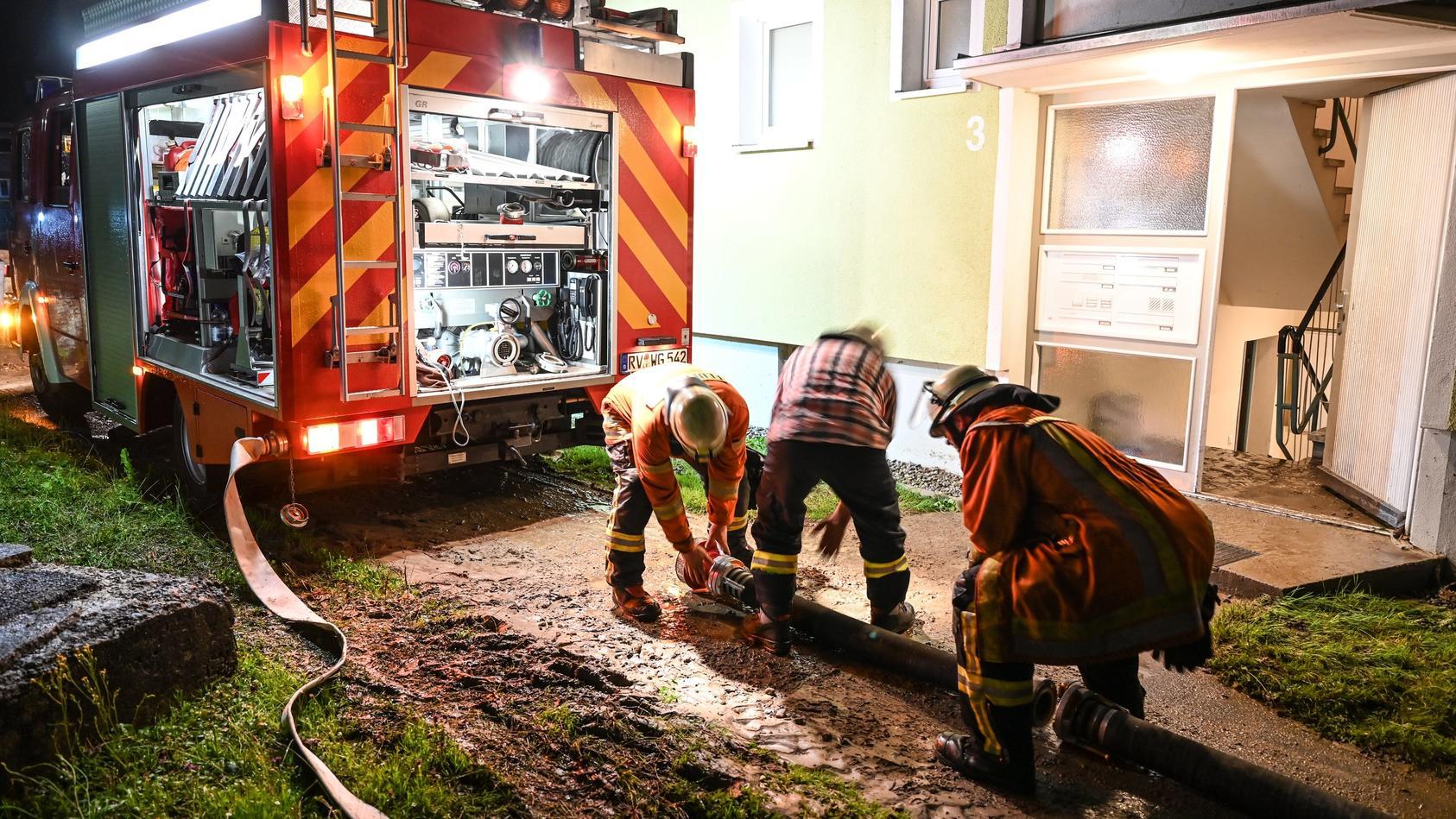 Feuerwehr im Einsatz (Motivbild aus Wangen im Allgäu)