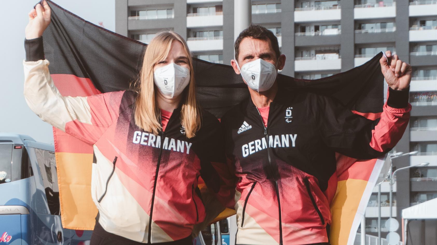 Mareike Miller und Michael Teuber sind die deutschen Fahnenträger bei den Paralympics 2021 in Tokio