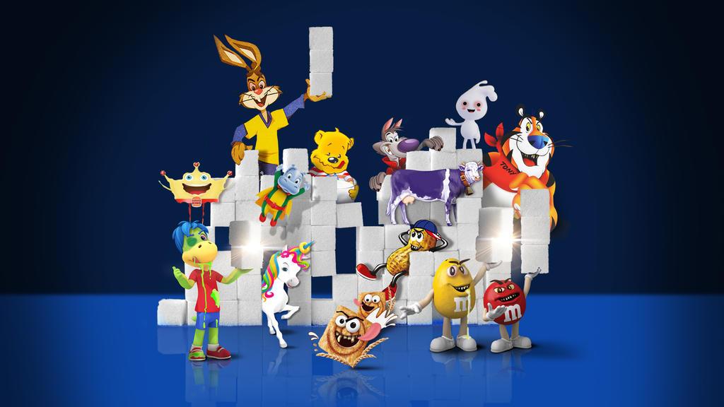 Produkte, die mit Comicfiguren, Online-Gewinnspielen und Spielzeugbeigaben an Kinder beworben werden, sind laut der Foodwatch-Studie oft Zuckerbomben und fettige Snacks.