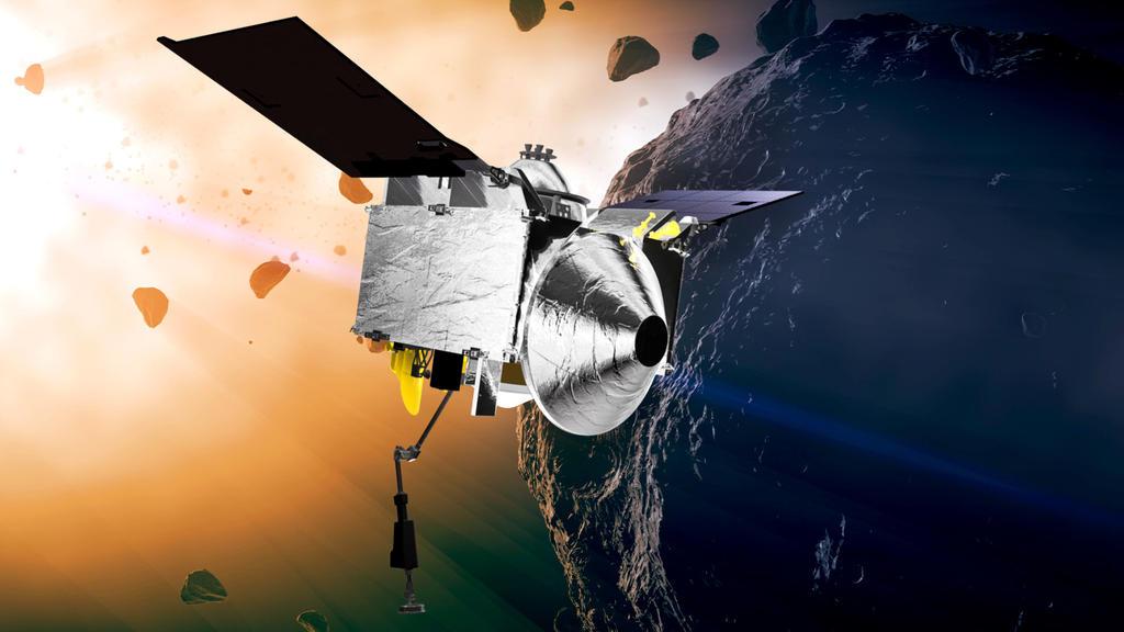 Die NASA-Sonde Osiris-Rex ist auf dem Asteroiden gelandet und hat Gesteinsproben gesammelt.