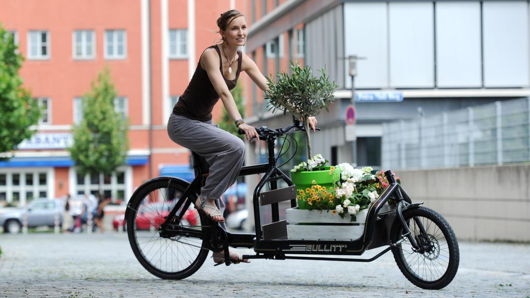 Lastenräder können Kinder oder auch auch sperrige Gegenstände transportieren.