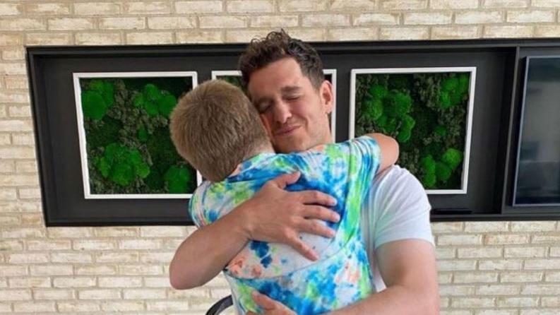 Michael Bublé mit seinem Sohn Noah.