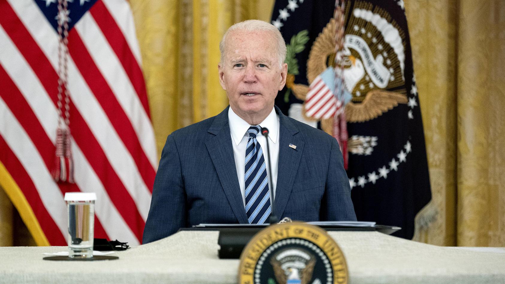 US-Präsident Joe Biden im Weißen Haus in Washington, D.C.