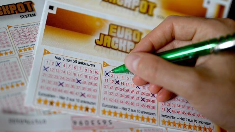 Ein Eurojackpot-Lotterieschein