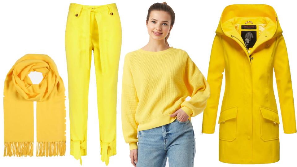 """Kleidung im gelben Pantone-Farbton """"Illuminating"""""""