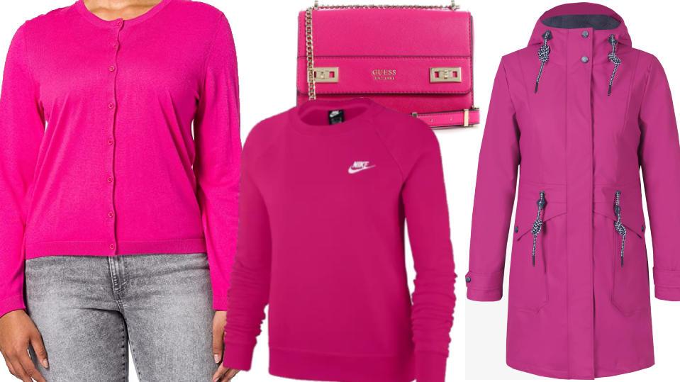 "Kleidung in der Pantone-Farbe ""Fuchsia Fedora"""
