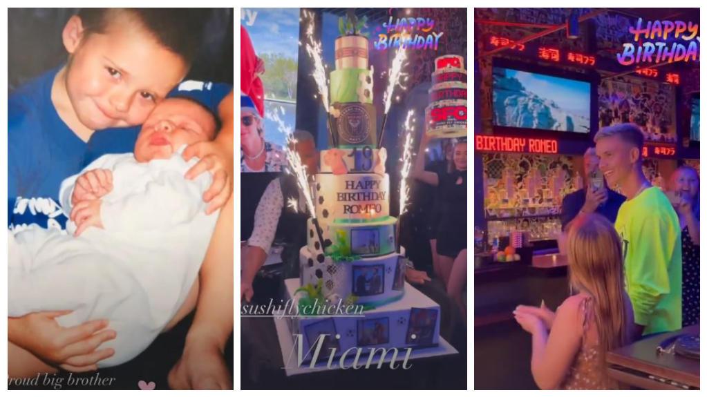 So feierte Familie Beckham Romeos Geburtstag.