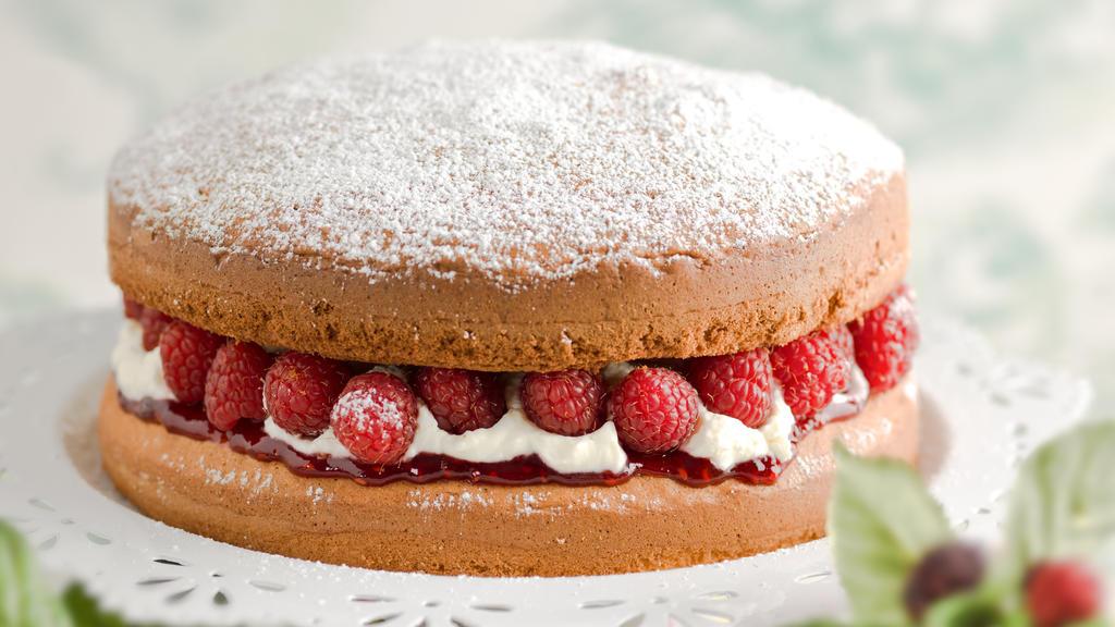 Victorian Sponge Cake, wie er im Buche steht.